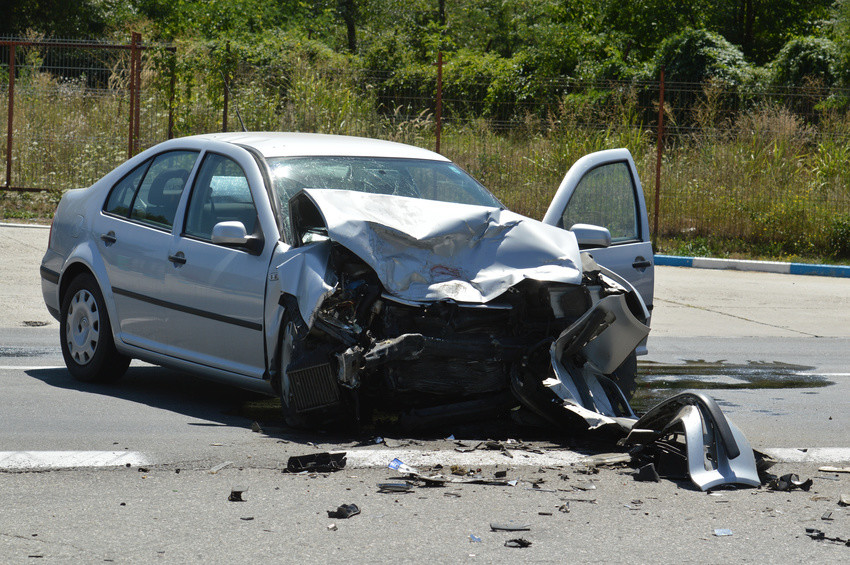 Crash where two cars are involved