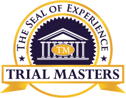 Seal of Experience Trial Masters Kelly Law Team